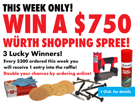 Win a Wurth Shopping Spree
