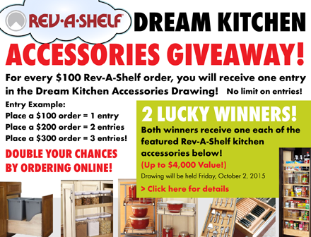 Würth Baer Supply Company Rev-A-Shelf Dream Kitchen Accessories Giveaway